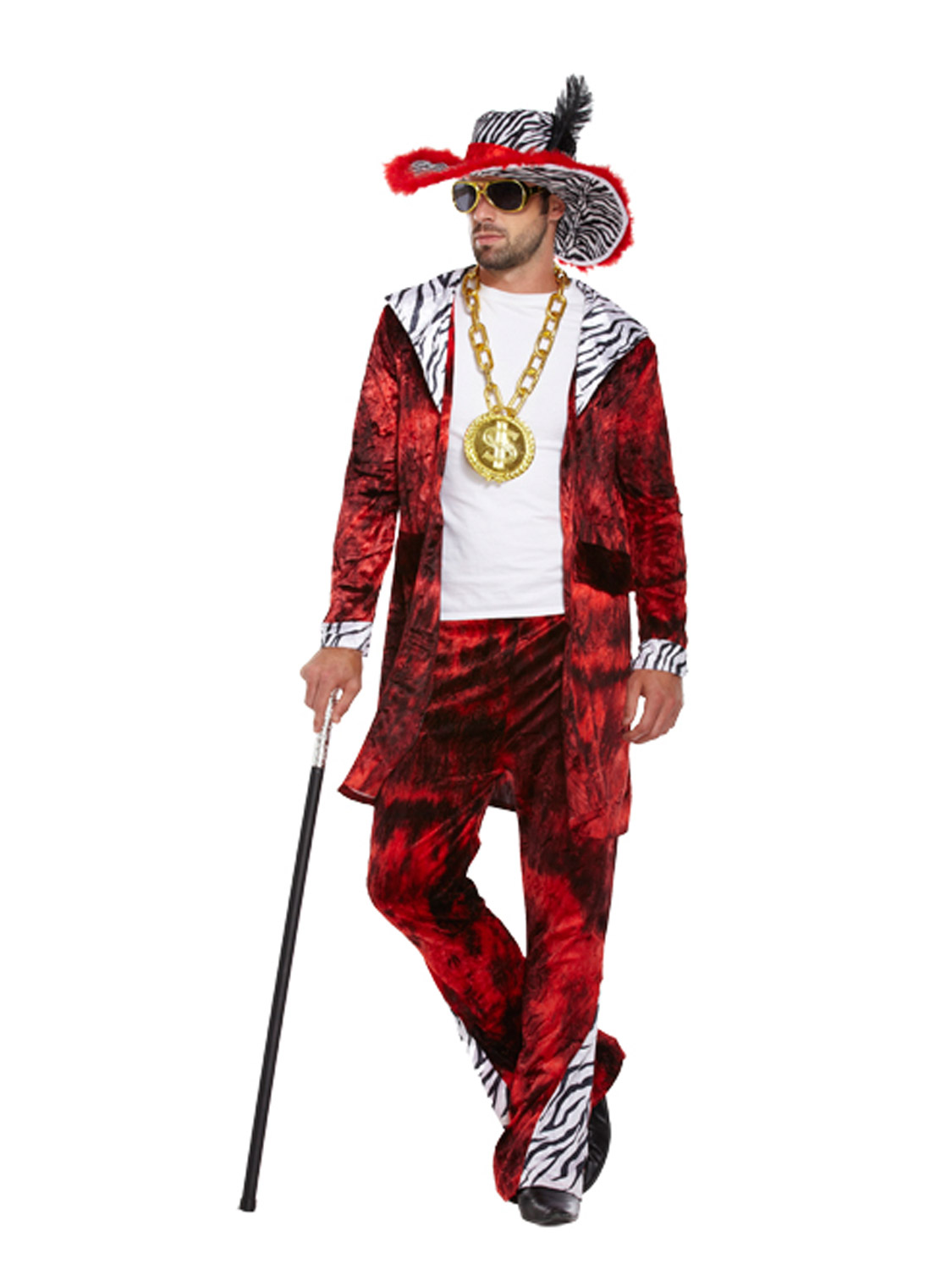 Déguisement Pimp Daddy Disco Gangster Homme Costume Halloween Adulte