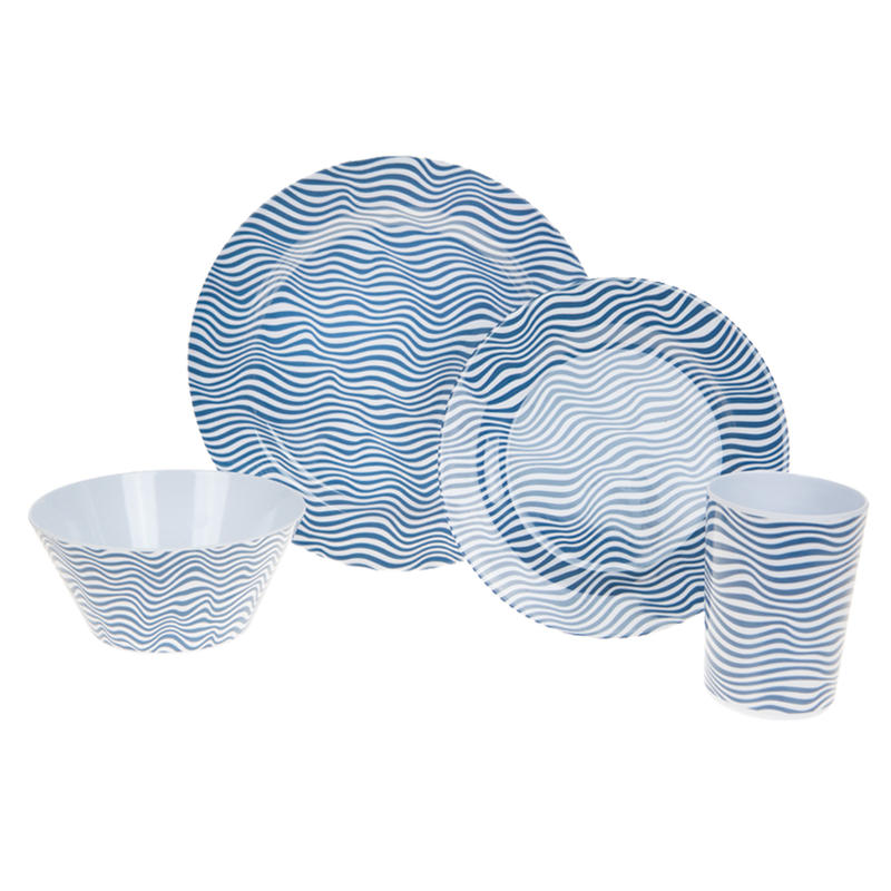 Summit 16 Piece Blue Wave Dinner Set