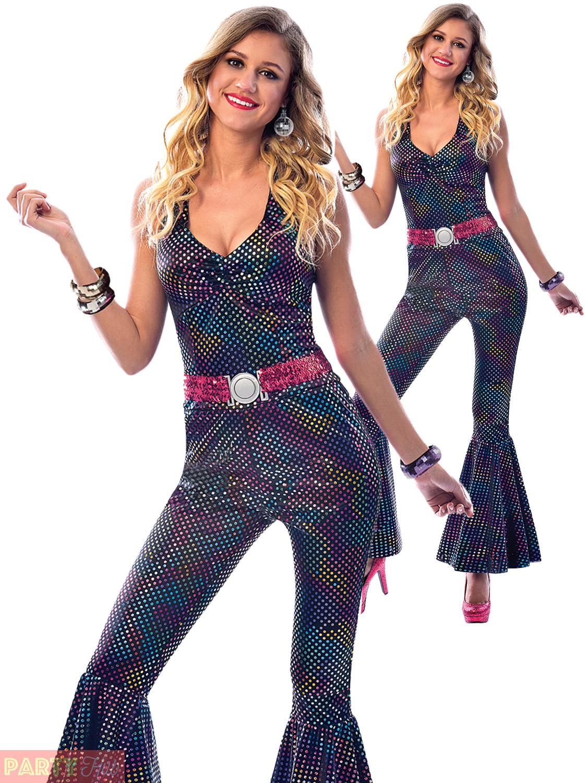 ladies disco diva costume adults retro 80s fancy dress
