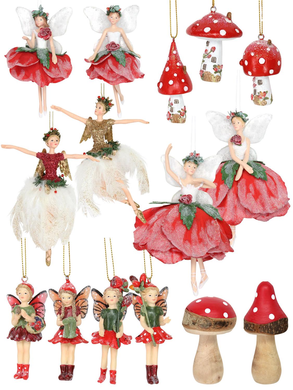 Gisela Graham Fairy Wooden Christmas Tree Decoration Xmas