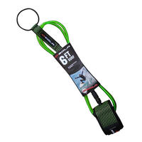 SOLA 7MM 6' SURF LEASH - GREEN
