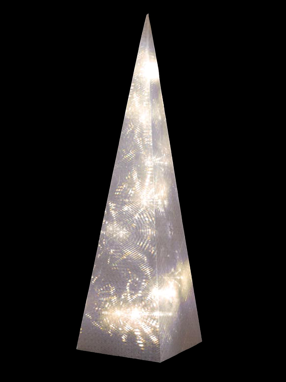 60cm-Pre-Lit-Christmas-Pyramid-Light-Up-LED-Xmas-Decoration-Modern-Tree-Festive thumbnail 8