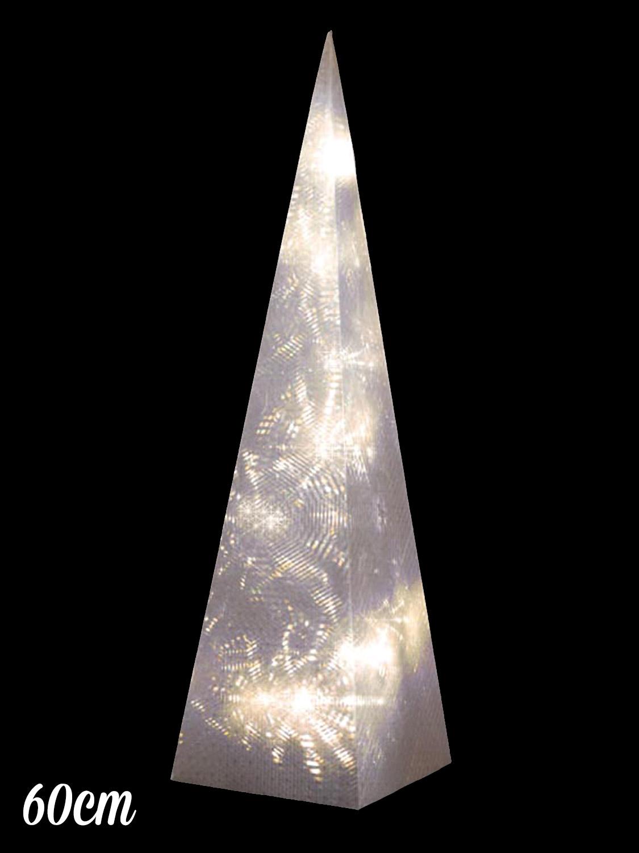 60cm Pre Lit Christmas Pyramid Light Up Led Xmas Decoration Modern