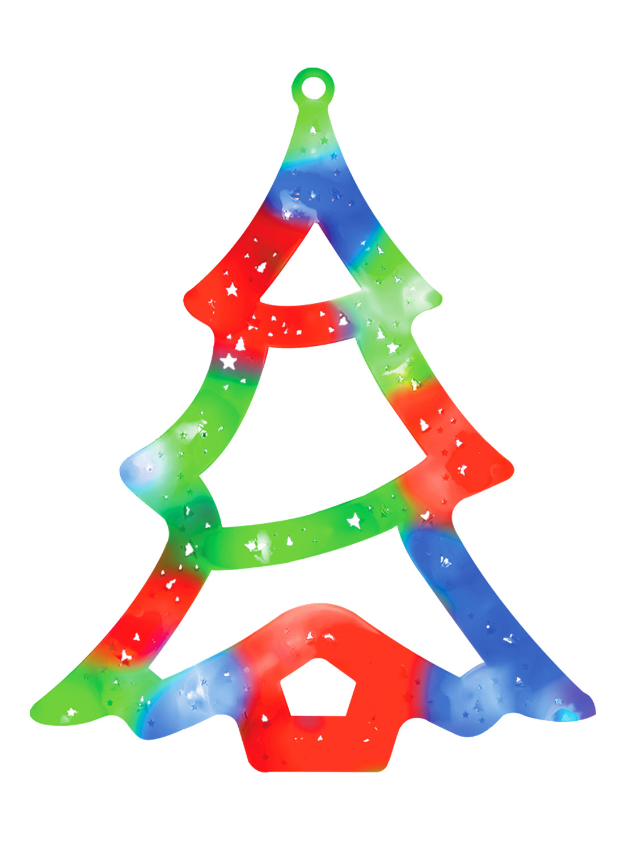 LED-Christmas-Window-Light-Xmas-Reindeer-Star-Tree-Snowman-Snowflake-Decoration miniatura 19