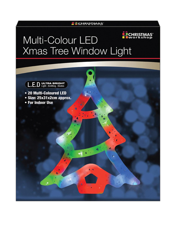 LED-Christmas-Window-Light-Xmas-Reindeer-Star-Tree-Snowman-Snowflake-Decoration miniatura 20