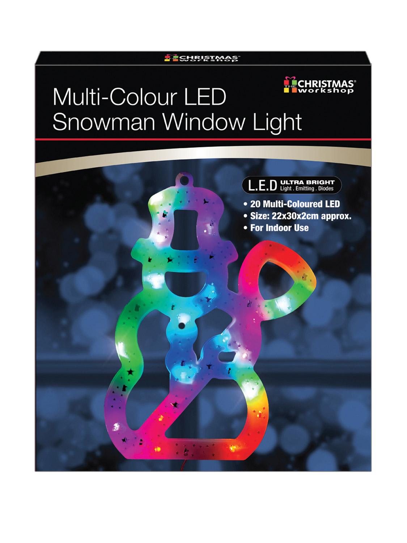 LED-Christmas-Window-Light-Xmas-Reindeer-Star-Tree-Snowman-Snowflake-Decoration miniatura 14