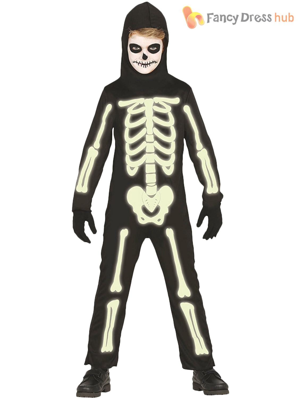 Halloween Skeleton Costume Kids.Glow In The Dark Skeleton Costume