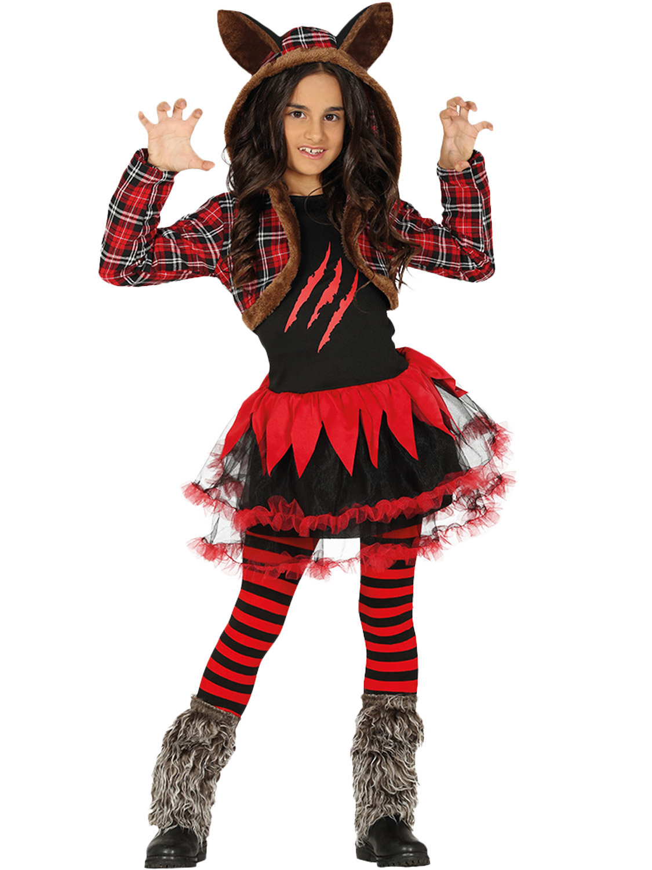 Girl teen halloween costume wolf, girls playing fuck toys