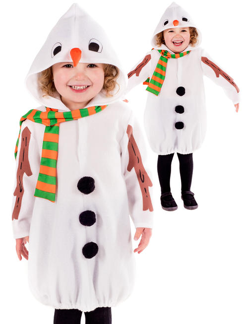 Girl's Toddler Snowman Costume