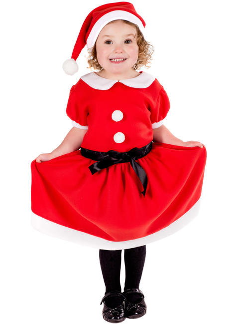 Girl's Toddler Christmas Dress Costume