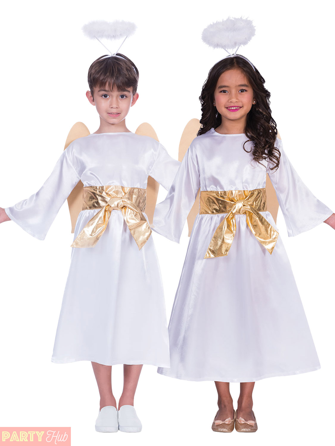 Details about Angel Gabriel Costume Kids Nativity Play Fancy Dress  Christmas Unisex Boys Girls