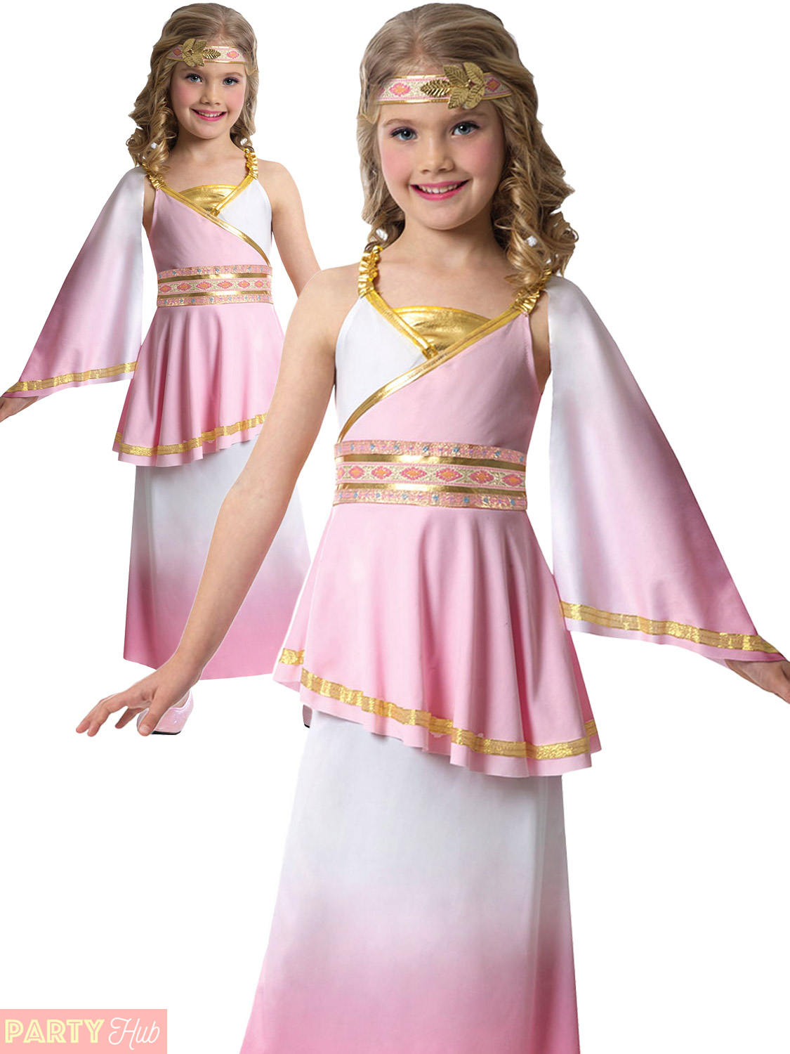 bfeaf2d4e4b Girls Venus Goddess Costume Teen Roman Toga Greek Child Fancy Dress ...