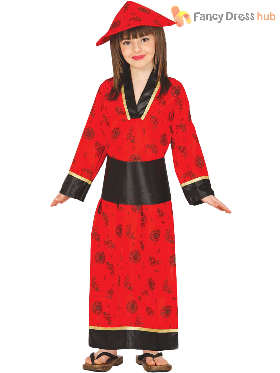 dc5e5ac48 Girls Chinese Oriental Fancy Dress Costume Childrens Outfit Kimono ...