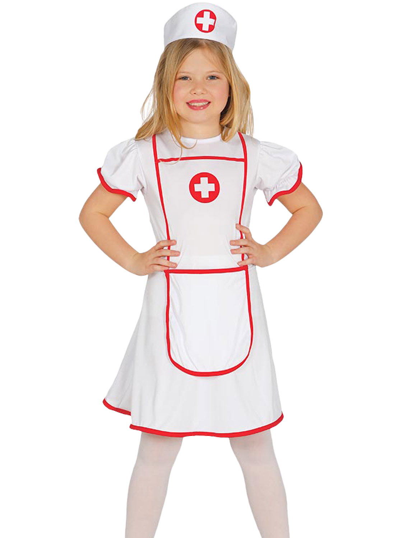 e0a325cd66e Details about Girls Nurse Costume Childs Hospital Medical Uniform Fancy  Dress Kids Book Day