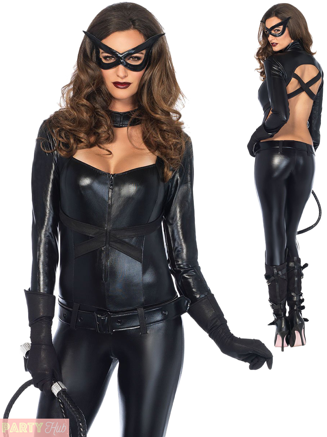 fc15381e55 Ladies Cat Women Catsuit Costume Leg Avenue Halloween Fancy Dress ...