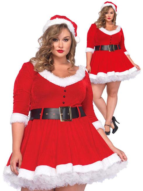 Ladies Miss Santa Costume