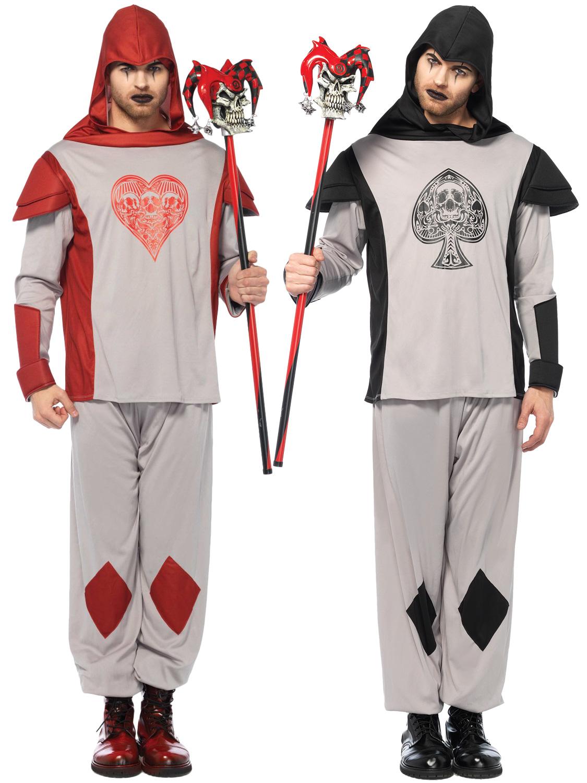 Mens Deck of Card Guard Halloween Alice in Wonderland Knave Fancy Dress Costume