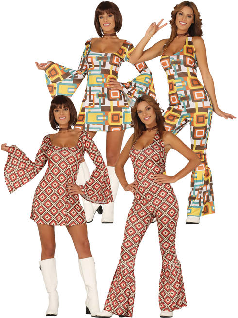 Ladies 1970s Women Costume