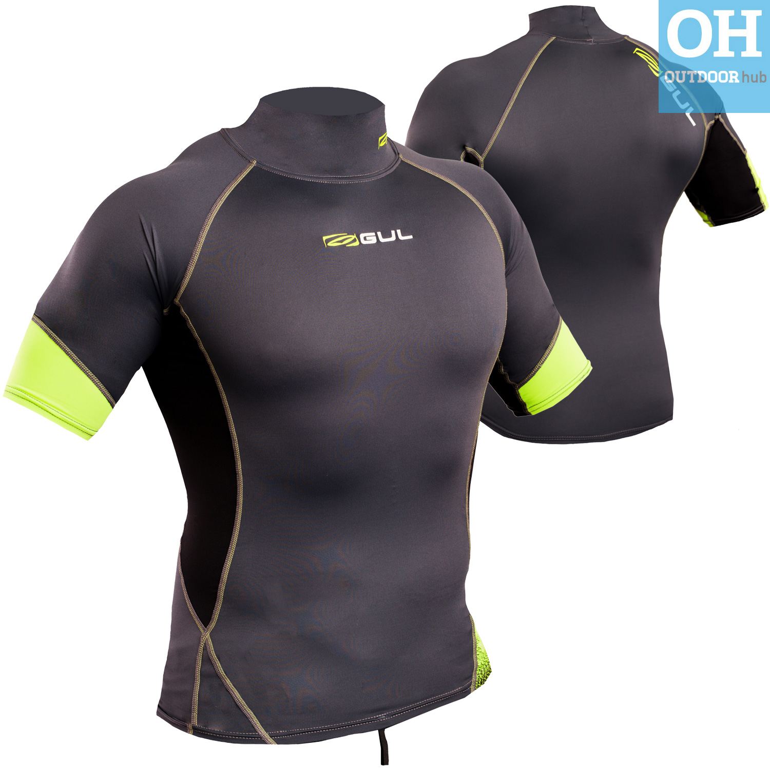 Gul-Xola-Mens-Short-Sleeve-Rash-Guard-Vest-Wetsuit-Top-UV-50-Surf-Swim-Dive thumbnail 23