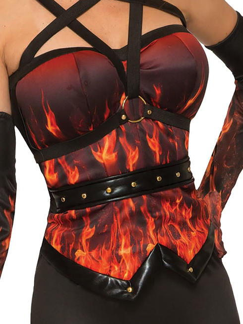 Ladies Devil Flame Corset