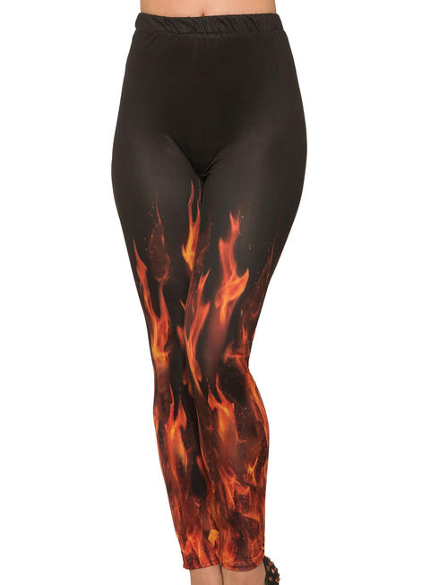 Ladies Devil Flame Leggings