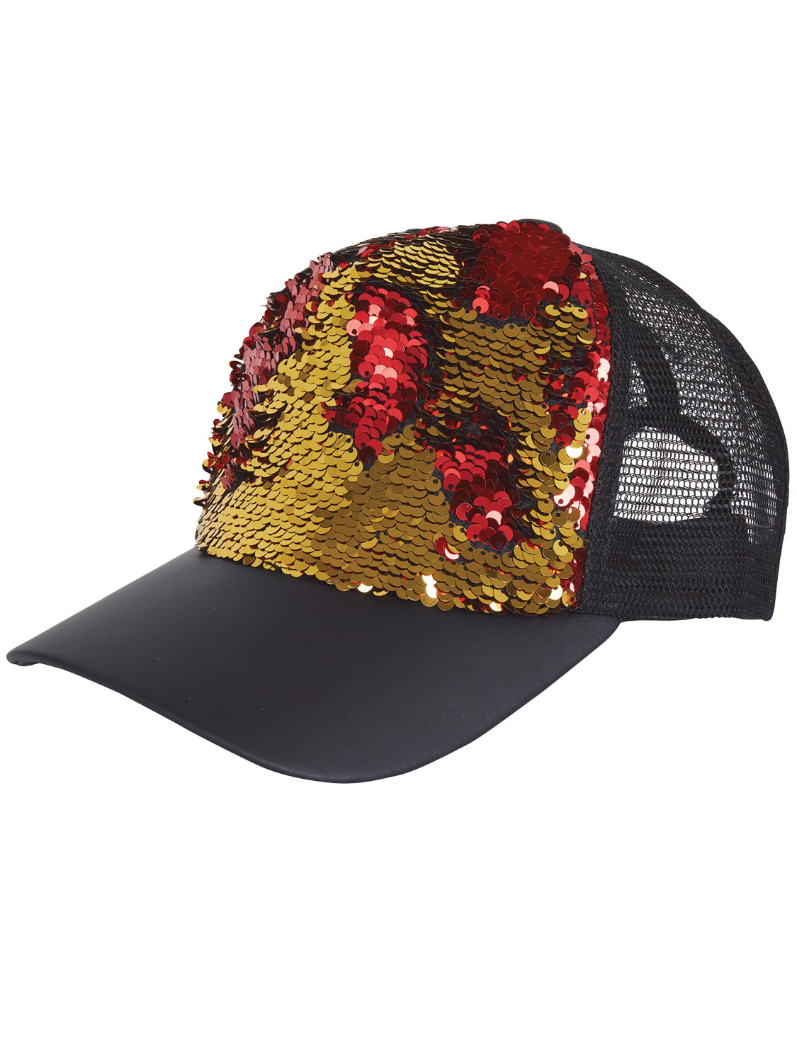 a2090ae5d Adult's Reversible Sequin Cap - Gold & Red | All Accessories | Fancy ...