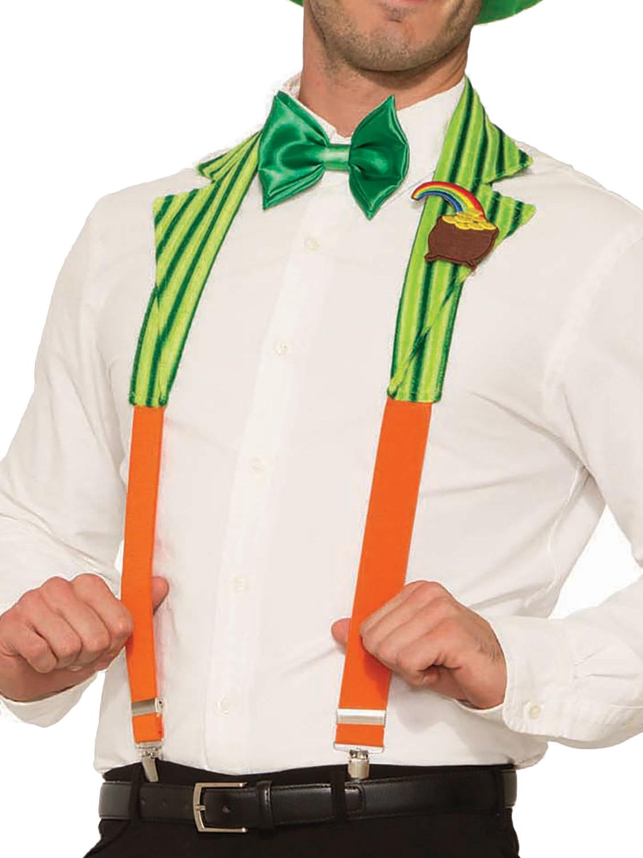 f2ab30bc Details about Adults St Patricks Day Braces Mens Irish Leprechaun Fancy  Dress Accessory