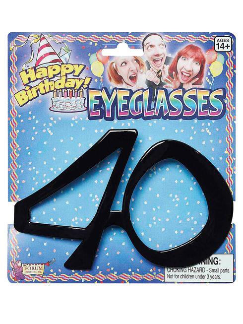 Adult's 40th Birthday Glasses