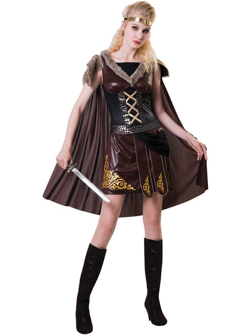 Ladies Medieval Warrior Costume