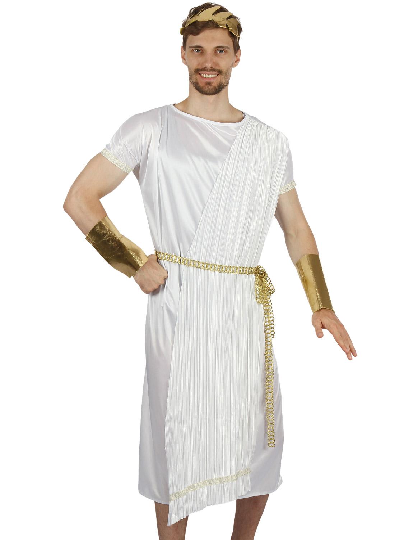 Toga Man Roman Greek Party Fancy Dress Up Halloween Adult Costume 4 COLORS