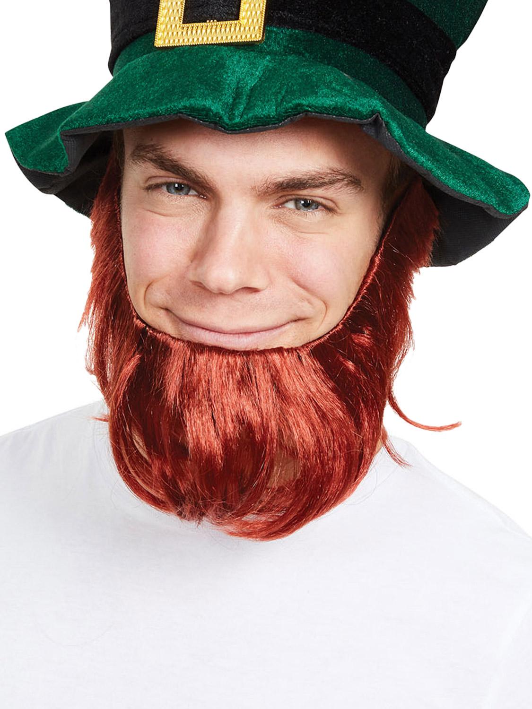 951482507b29 Details about Adult Leprechaun Beard St Patricks Day Irish Fancy Dress  Ginger Beard Accessory