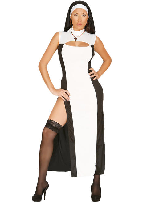 Ladies Sexy Nun Costume