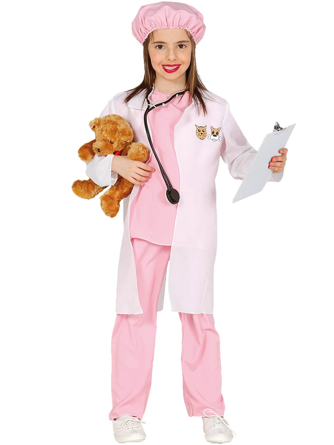 Girls-Vet-Costume-Childs-Animal-Doctor-Fancy-Dress-Kids-Book-Week-Day-Outfit 縮圖 8