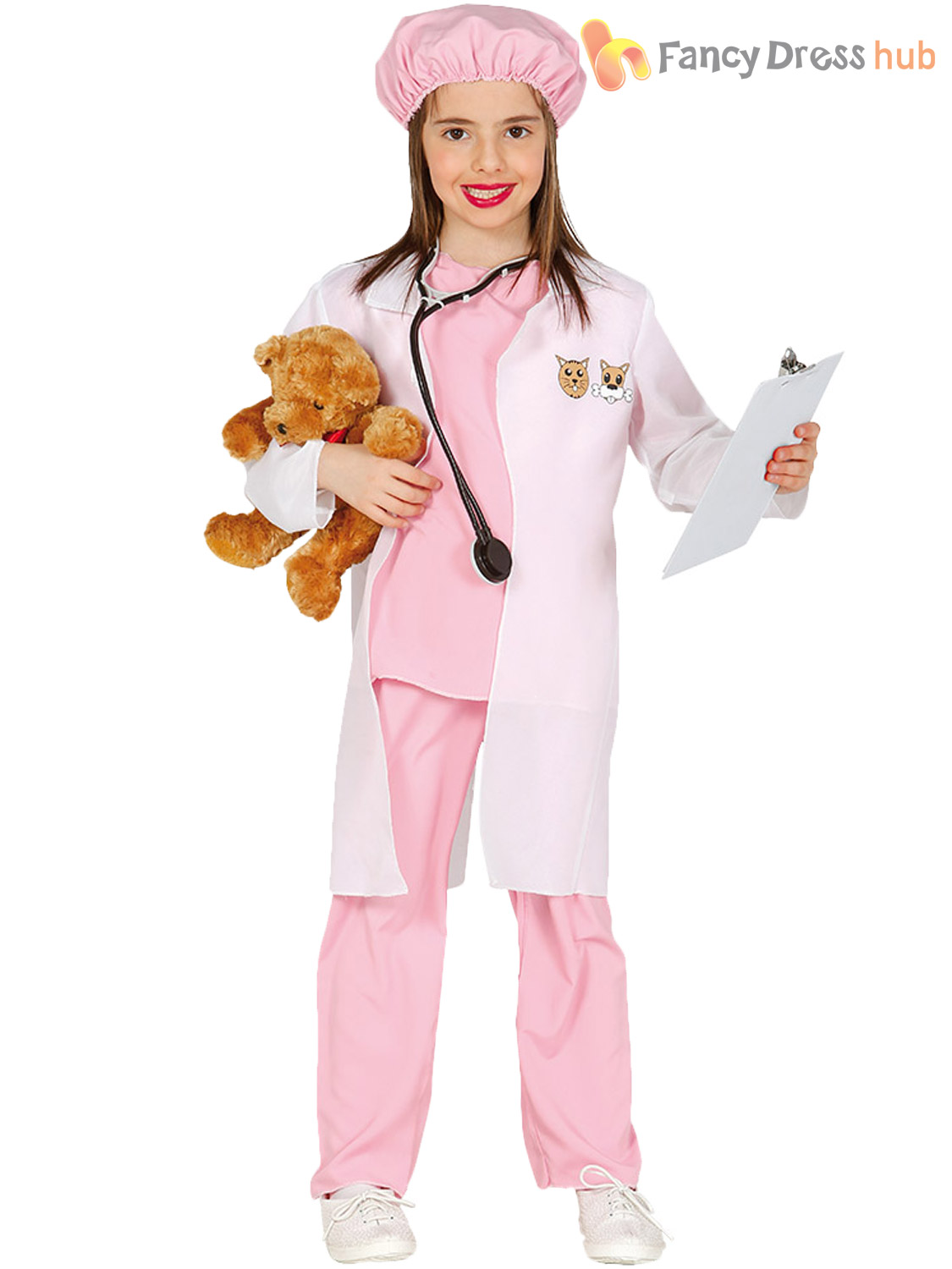Girls-Vet-Costume-Childs-Animal-Doctor-Fancy-Dress-Kids-Book-Week-Day-Outfit 縮圖 7