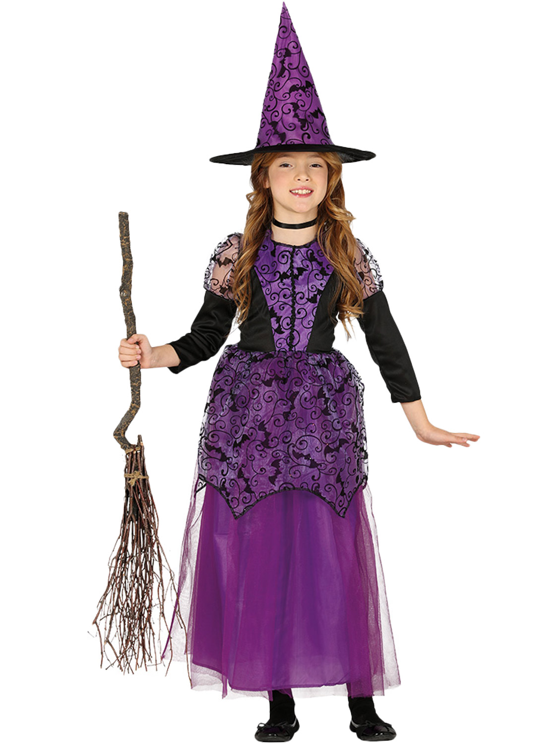Girls Little Purple Witch Costume Child Halloween Fancy Dress Kid Witches Outfit Ebay