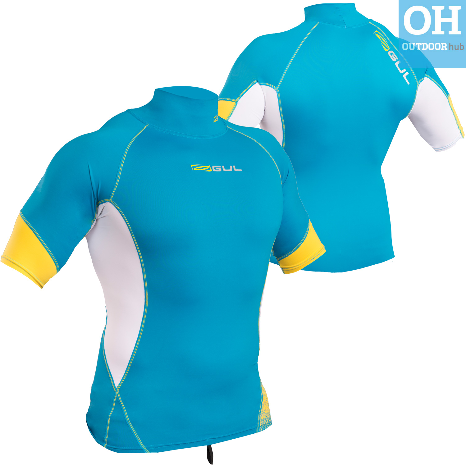 Gul-Xola-Mens-Short-Sleeve-Rash-Guard-Vest-Wetsuit-Top-UV-50-Surf-Swim-Dive thumbnail 19