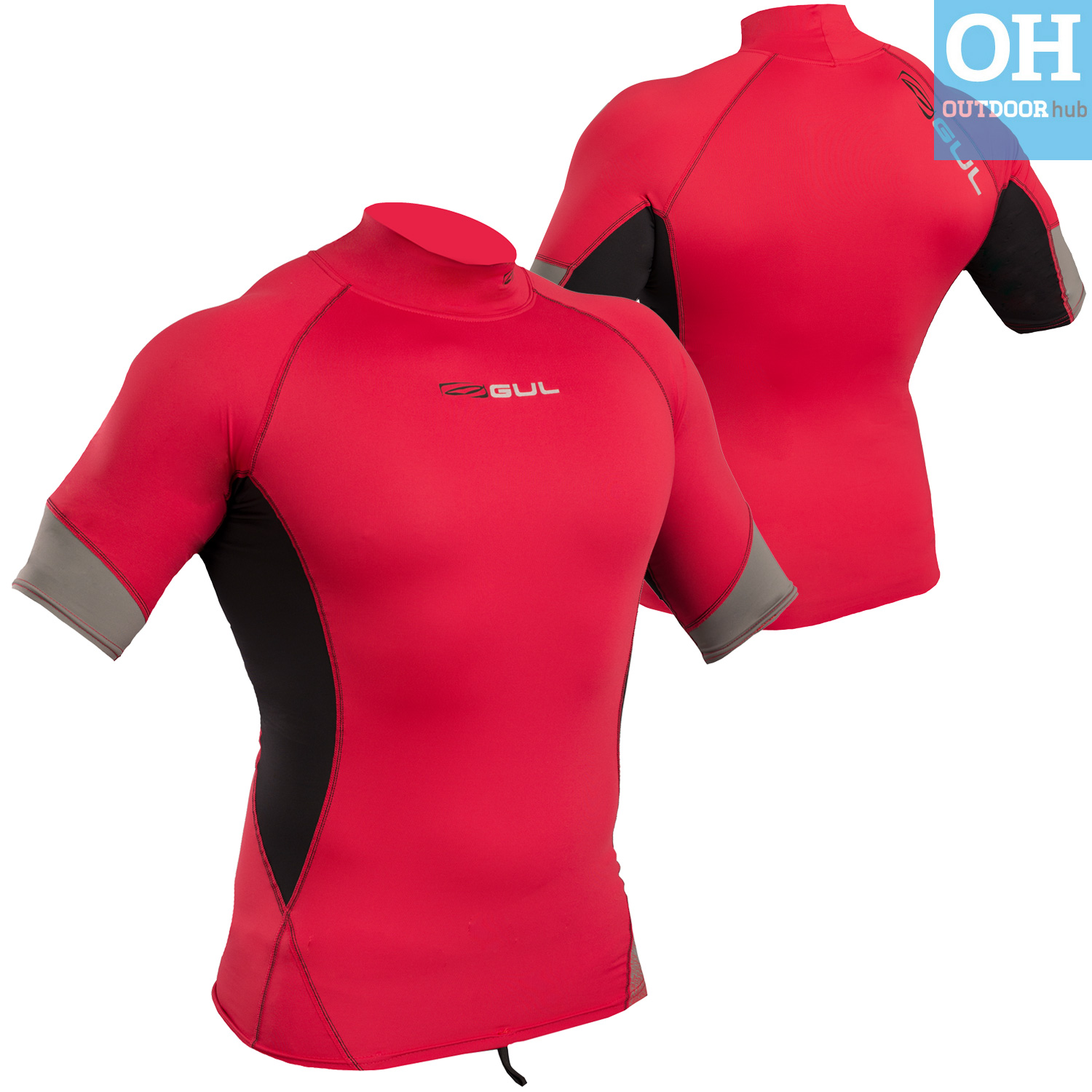 Gul-Xola-Mens-Short-Sleeve-Rash-Guard-Vest-Wetsuit-Top-UV-50-Surf-Swim-Dive thumbnail 34