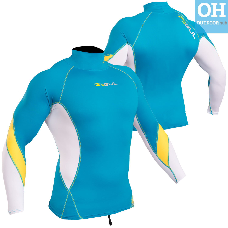 Gul-Xola-Mens-Long-Sleeve-Rash-Guard-Vest-Wetsuit-Top-UV-50-Surf-Swim-Dive thumbnail 17