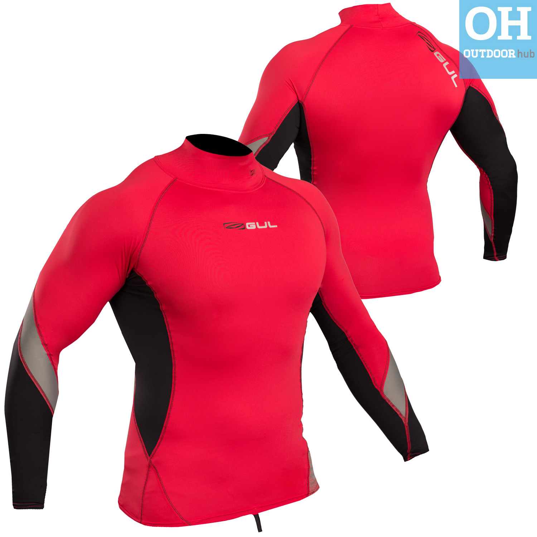 Gul-Xola-Mens-Long-Sleeve-Rash-Guard-Vest-Wetsuit-Top-UV-50-Surf-Swim-Dive thumbnail 27
