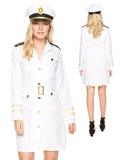 Ladies Navy Officer Girl Costume