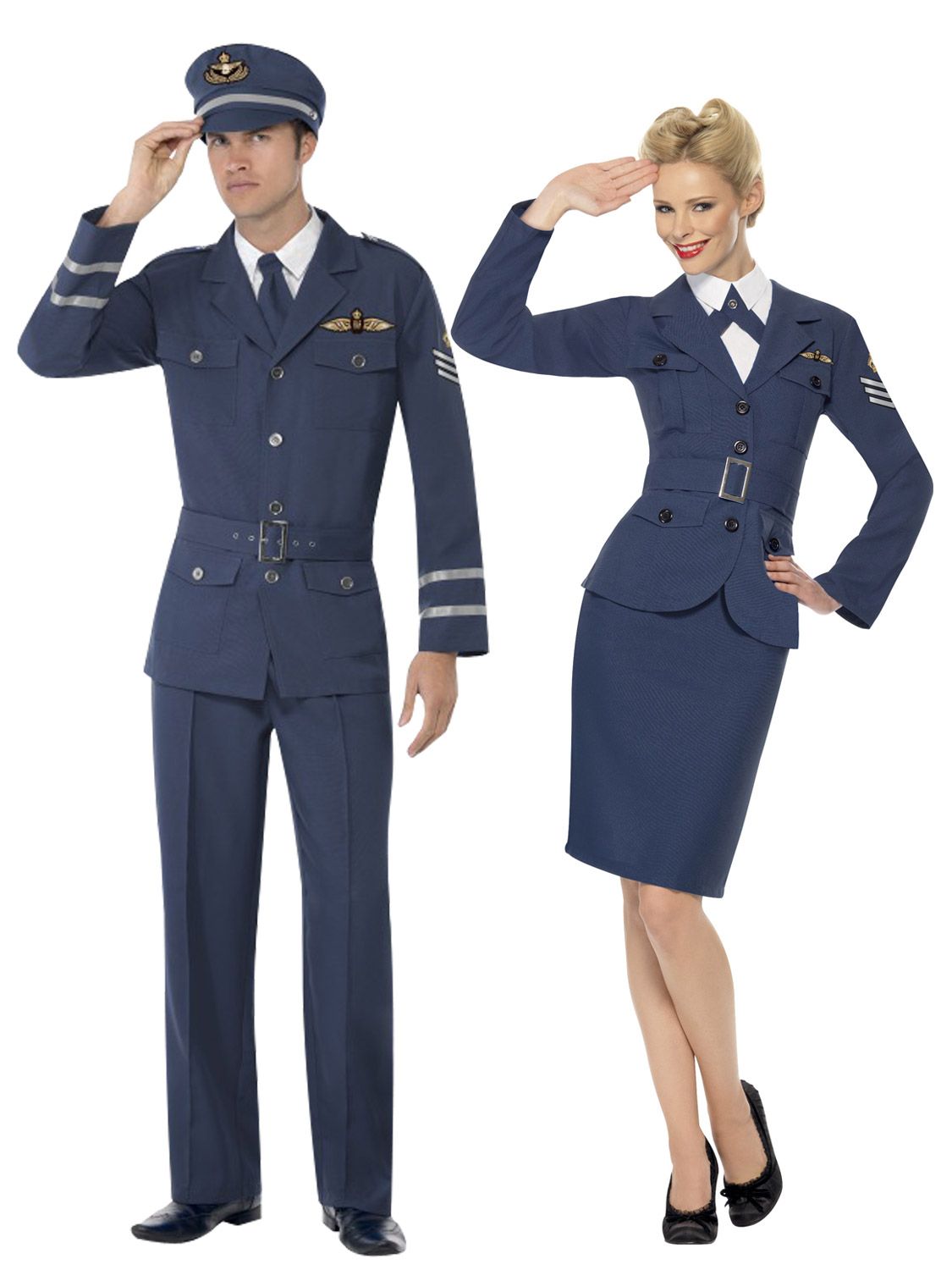 Mens ladies 1940s airforce captain fancy dress uniform military image 2 solutioingenieria Images
