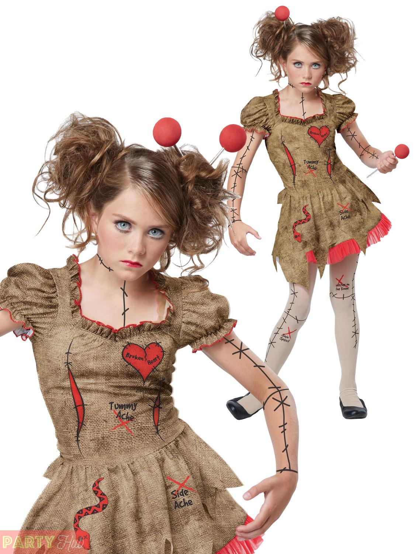 girls teen deluxe voodoo doll costume halloween fancy dress kids