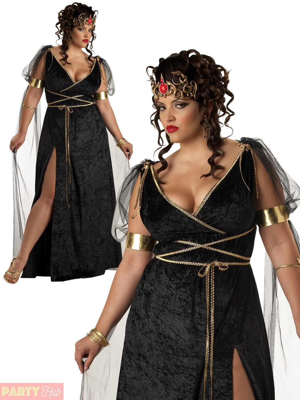 ladies medusa costume adult greek myth halloween fancy dress womens