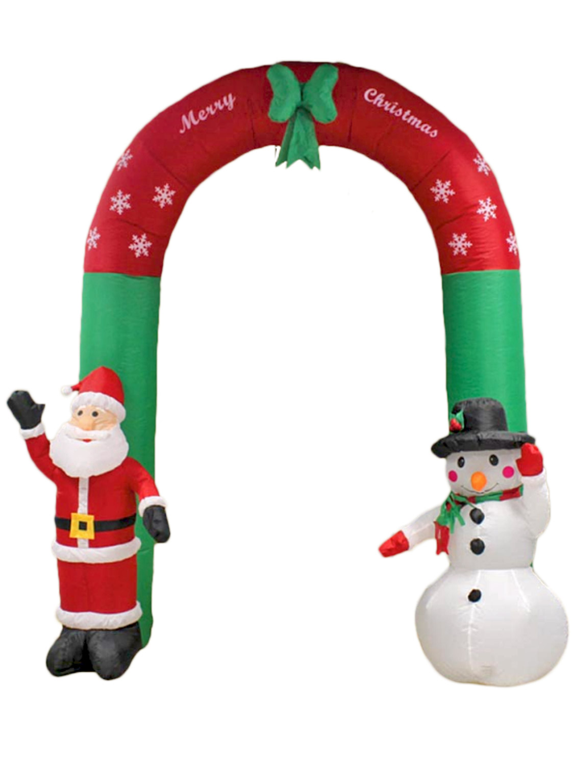 Inflatable Santa and Snowman Christmas Arch 240cm by Kingfisher | eBay