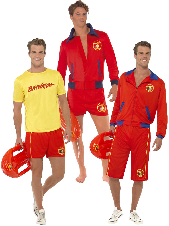 mens baywatch lifeguard sports uniform fancy dress 90s tv. Black Bedroom Furniture Sets. Home Design Ideas