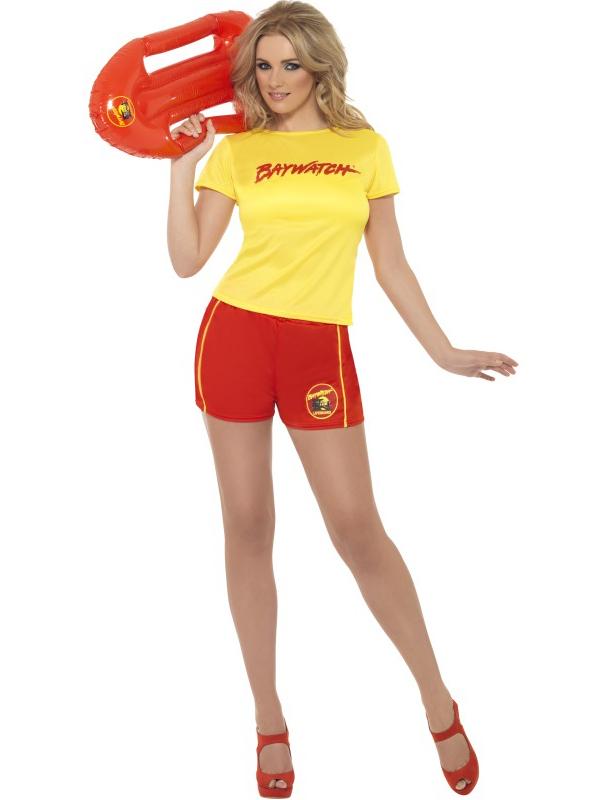 ladies licensed baywatch fancy dress sexy uniform summer