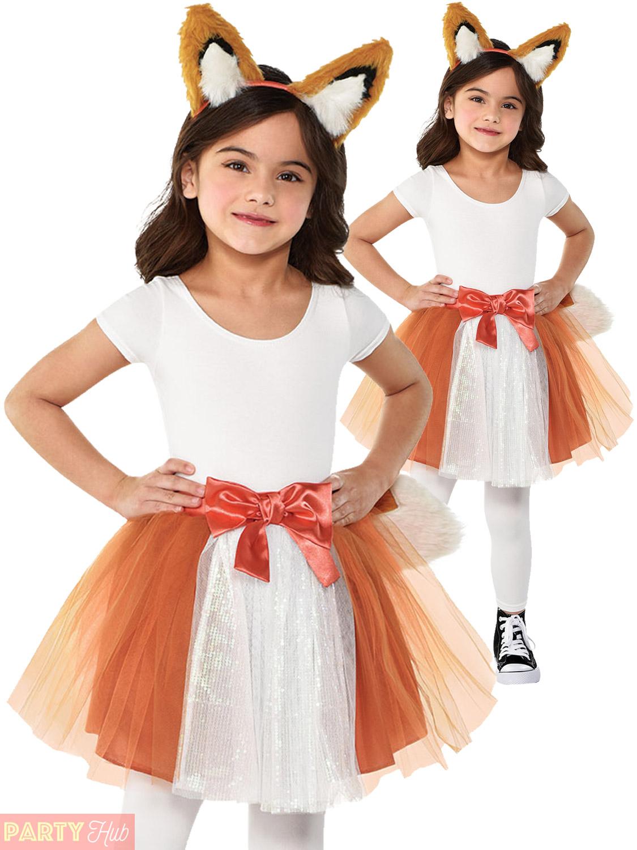 Halloween Kids Costumes Girls.Details About Childs Fox Cat Tutu Costume Girls Animal Fancy Dress Halloween Kids Outfit