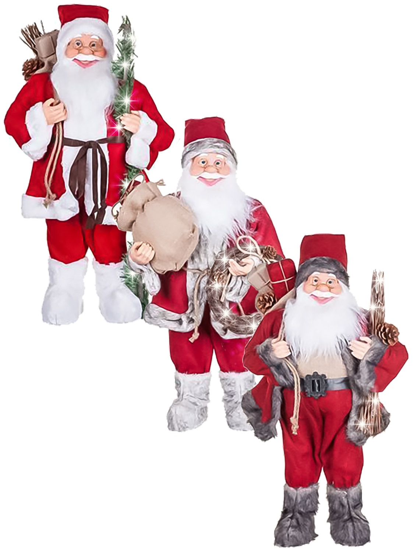 60cm Standing Light Up Santa Claus Decoration Father Christmas Xmas ...