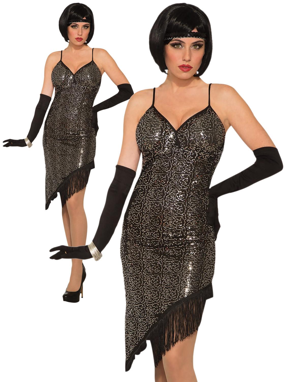 Details About Las 1920s Fler Costume S Charleston Great Gatsby Fancy Dress Womens