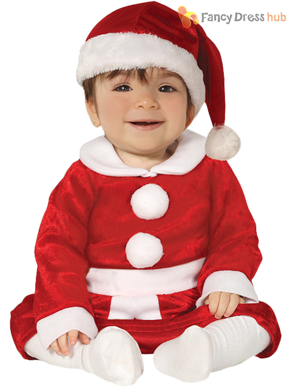 Christmas Fancy Dress Kids.Details About Girls Baby Toddler Little Miss Santa Costume Christmas Fancy Dress Kids Xmas
